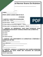 2 - Atividade - Escola Municipal Naomar Soares De Alcântara