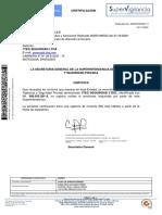 certificacion no sanciones Supervigilancia novimebre de 2020