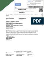 Certificado No Demandas Ministerio de Trabajo