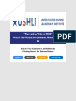 USHLI - The Latino Vote of 2020 the Numbers the Gains and the Losses Watch the Forum on-Demand Monday April 12