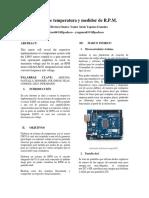 Sistema de Temperatura y Medidor de RPM.