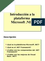 1.- Introduccion a la plataforma Microsoft .NET