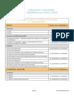 Calendrier ECandidat DSPM 21-22