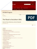 Communist Party USA the Road to Socialism