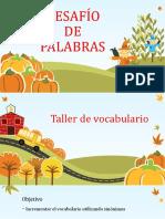 VOCABULARIO LIBROS-PELÍCULAS, TALLER