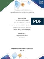 Tarea 3 - Identificación del Diseño Experimental consolidado