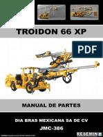 JMC-386 TROIDON 66 XP MANUAL DE PARTES