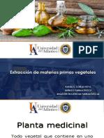 Extraccion de materias primas vegetales