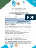 Guía de actividades y rúbrica de evaluación - Unidad 1 - Tarea 1- Contextualización