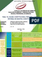 Cambio o Reforma de La Constitución Peruana