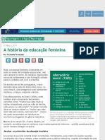 A história da educação feminina