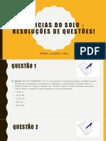 Ciências do Solo - Resoluções de questões! 25-03