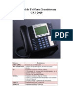 Manual de Teléfono Grandstream2020