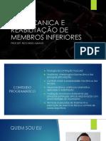 BIOMECANICA E REABILITAÇÃO DE MEMBROS INFERIORES