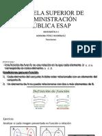 MATEMÁTICA I FUNCIONES