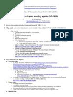 Meeting Agenda  3-7-11