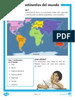 Sa Cn 8 Comprension Lectora Los Continentes Del Mundo Ver 1