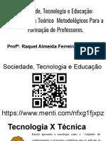 Tecnologia, Sociedade e Educacao