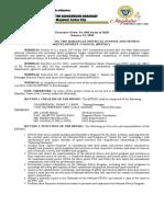 Executive Order No. 004 Creating Bpfsdc