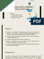 Destilación simple y destilación fraccionada