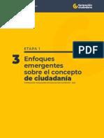 1.3 Enfoques emergentes sobre el concepto de ciudadanía
