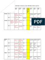 Even Semester Class Timetable for UG3 and PG2 2021