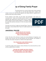 Vedic Way Family Prayer