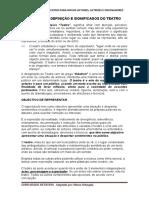 2- O TEATRO SIGNIFICADOS E OBJECTIVOS