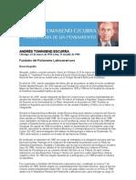 Breve Biografía de Andres Townsend Ezcurra