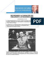 Recordando la fundación del Parlamento Latinoamericano