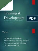 Training and Development3