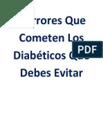 5 Errores Que Cometen Los Diabéticos Que Debes Evitar 1