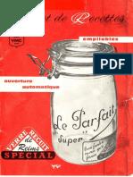 Carnet de recettes Le parfait Ouverture automatique empilables