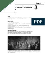 O romatismo na europa e no brasil