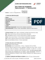 1.MODELO RELATÓRIO DE ANAMNESE. ORIENTAÇÃO