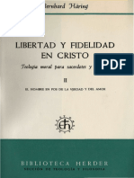 Häring, Bernhard - Libertad y fidelidad en cristo  CAP. X
