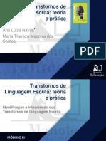 M3_Aula 8_Princípios gerais da intervenção da linguagem escrita e estimulação do processamento fonológico_Maria_Thereza_Apresentação