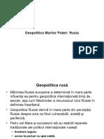 Geopolitica Marilor Puteri Rusia