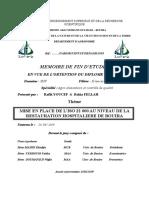 MISE EN PLACE DE L'ISO 22 000 AU NIVEAU DE LA RESTAURATION HOSPITALIERE DE BOUIRA