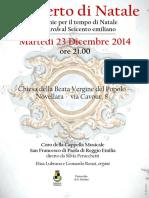 Novellara - 23 dic 2014 - locandina