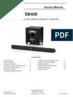 JBL SB400 - Service Manual
