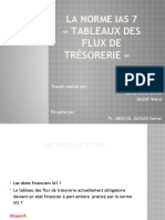 Tableau des flux de trésorerie IAS 7