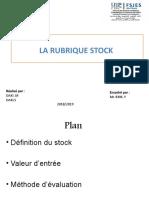 Rubrique Stock (LF)