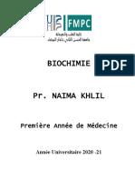 Biochimie 1a Medecine Khlil 2020-21