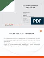 CUESTIONARIOS DE PRE-PARTICIPACIÒN