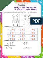 Ficha de Actividad - Comparación de Fracciones
