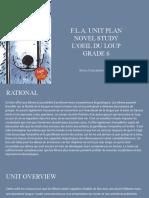 novel study unit plan