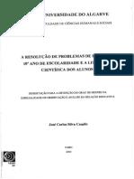 Camilo, José - Resolução de Problemas de Física No 10º Ano de Escolaridade e a Literacia Ciêntifica Dos Alunos