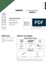 Marantz SR6013 Quick Start Guide
