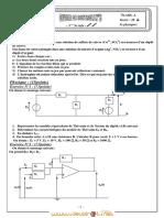 Devoir de Contrôle N°3 - Sciences physiques - 3ème Informatique (2009-2010) Mr ALIBI ANOUAR 2